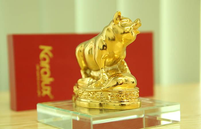 Tượng Heo phong thủy mạ vàng 24k | Heo phong thuy may mắn và thịnh vượng
