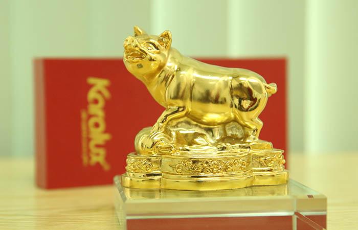 Tượng Heo dát vàng phong thủy may mắn và thịnh vượng