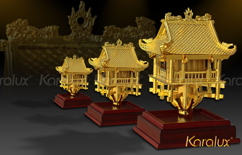 The high-end gold-plated One Pillar Pagoda model