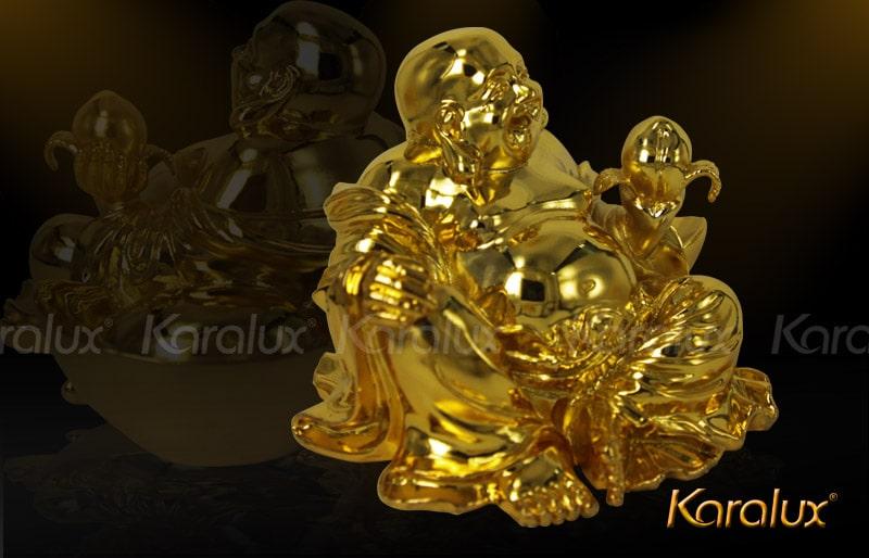 Tượng Di-Lặc ngồi mạ vàng 24k