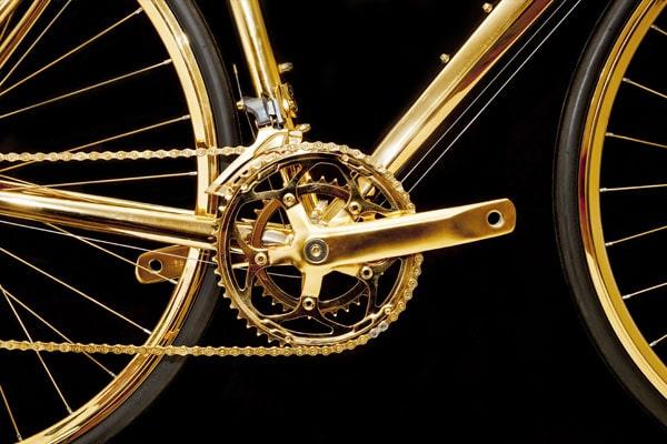 Xe đạp mạ vàng cao cấp và độc đáo