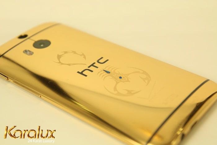 HTC one mạ vàng, quà tặng giới thượng lưu, quà tặng độc đáo