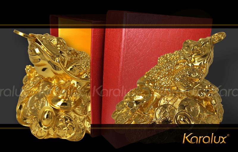 THIỀM THỪ MẠ VÀNG 24K | Cóc ba chân phong thủy ngậm tiền vàng đem lại vượng tài