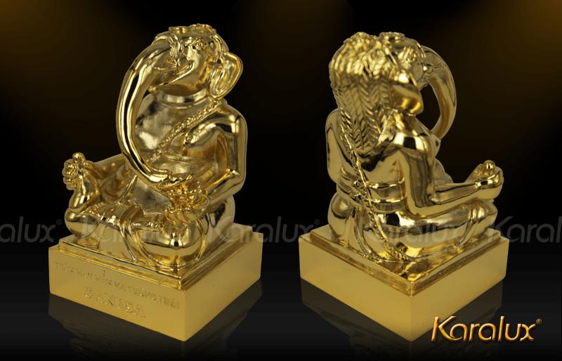 Tuong Voi may man ma vang|Thần Ganesha mạ vàng 24k