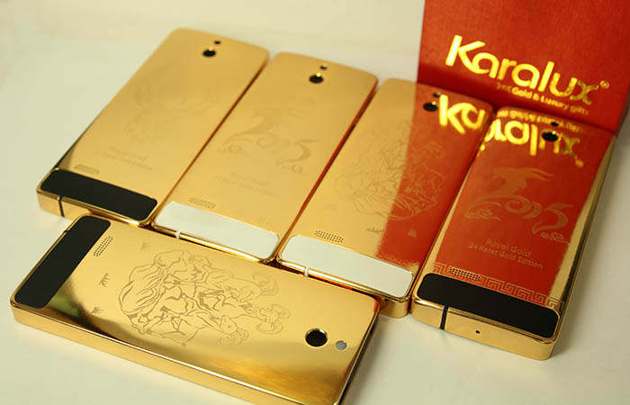 Nokia 515 mạ vàng khắc hình Dê phong thủy