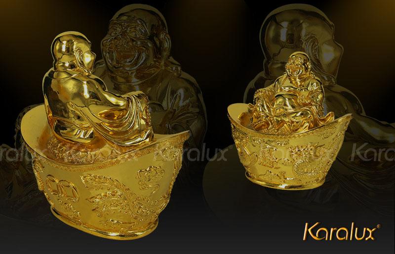Bài trí tượng Phật Di lặc mạ vàng 24K đem lại hạnh phúc, may mắn, tài lộc