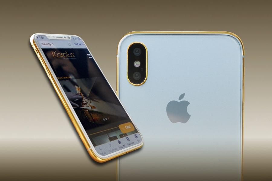 Giá bán iPhone X mạ vàng