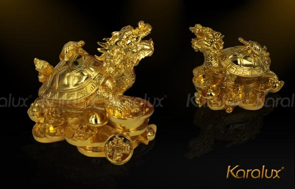 Linh vật Long Quy đúc đồng mạ vàng 1