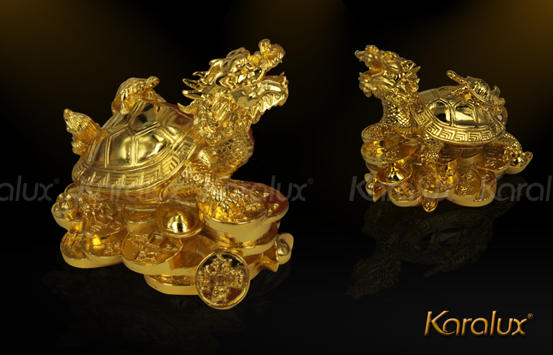 Linh vật Long Quy đúc đồng mạ vàng 5