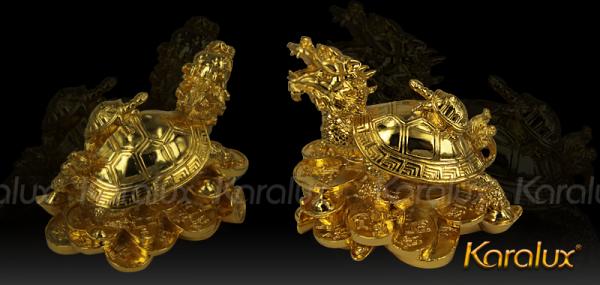 Linh vật Long Quy đúc đồng mạ vàng 2