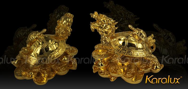 Linh vật Long Quy đúc đồng mạ vàng 7