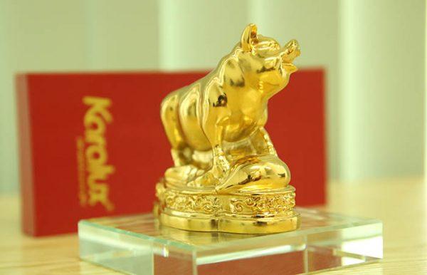 Tượng Heo dát vàng phong thủy may mắn và thịnh vượng - TLV-12CG12-2 3