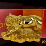 Tượng Hổ phong thủy mạ vàng ( size bé ) 6