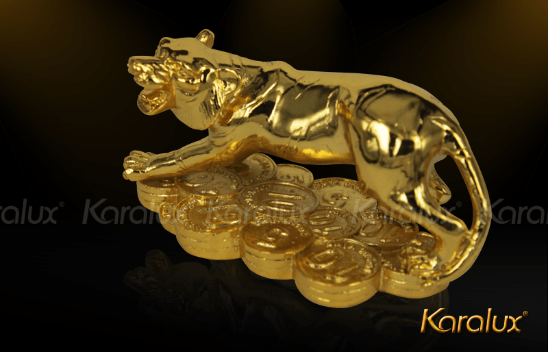 Tượng Hổ phong thủy mạ vàng ( size bé ) 8