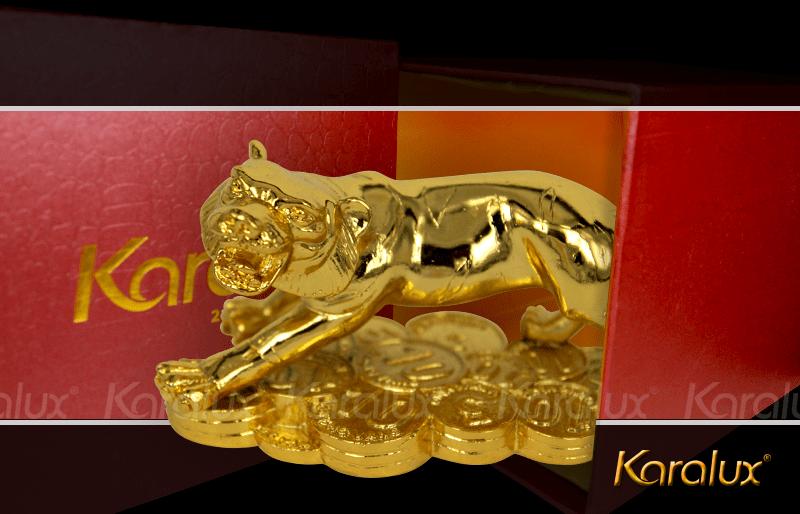 Tượng Hổ phong thủy mạ vàng ( size bé ) 11