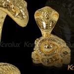 Linh vật rắn phong thủy mạ vàng 6