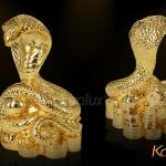Linh vật rắn phong thủy mạ vàng 4