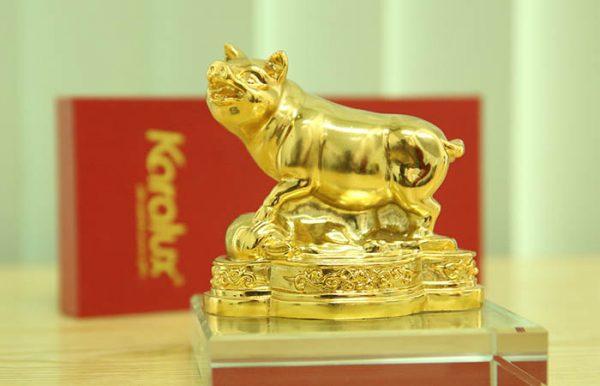 Tượng Heo dát vàng phong thủy may mắn và thịnh vượng - TLV-12CG12-2 1