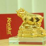 Tượng Heo dát vàng phong thủy may mắn và thịnh vượng - TLV-12CG12-2 5