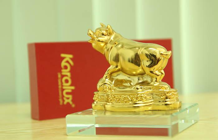 Tượng Heo dát vàng phong thủy may mắn và thịnh vượng - TLV-12CG12-2 15
