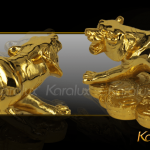 Tượng Hổ phong thủy mạ vàng ( size bé ) 4
