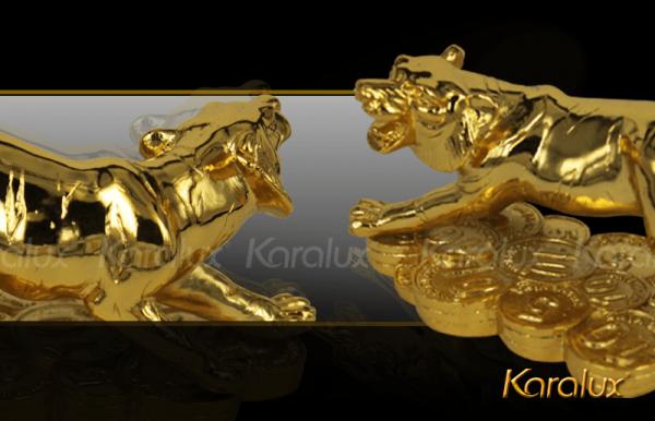 Tượng Hổ phong thủy mạ vàng ( size bé ) 2