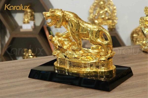 Tượng hổ phong thủy mạ vàng (mẫu 1) 3