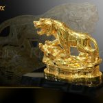 Tượng hổ phong thủy mạ vàng (mẫu 1) 4