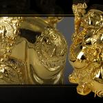 Tượng Di Lặc đứng mạ vàng 6