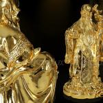 Tượng tam đa mạ vàng 7