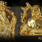 Tượng tam đa mạ vàng 9