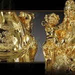 Tượng tam đa mạ vàng 13