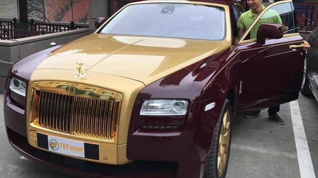 Rolls-Royce-Ghost mạ vàng 24k cao cấp
