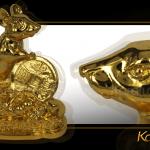 Chuột phong thủy may mắn mạ vàng 3