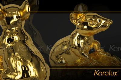 Tượng Chuột phong thủy mạ vàng 10