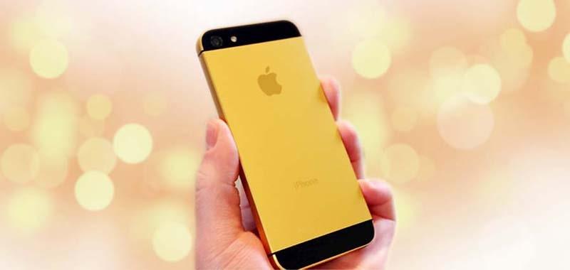 iPhone 5 mạ vàng 24k