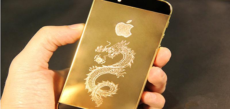 iphone 5S mạ vàng 24k sang trọng và độc đáo