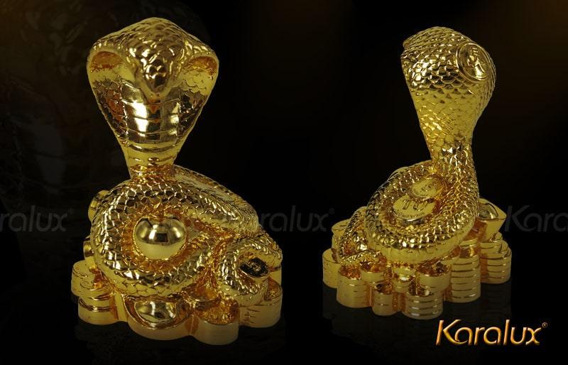 Linh vật rắn mạ vàng 24k