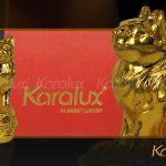 Mèo phong thủy mạ vàng 24k