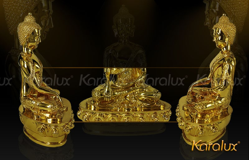 Tượng Phật Thích Ca mạ vàng 24k