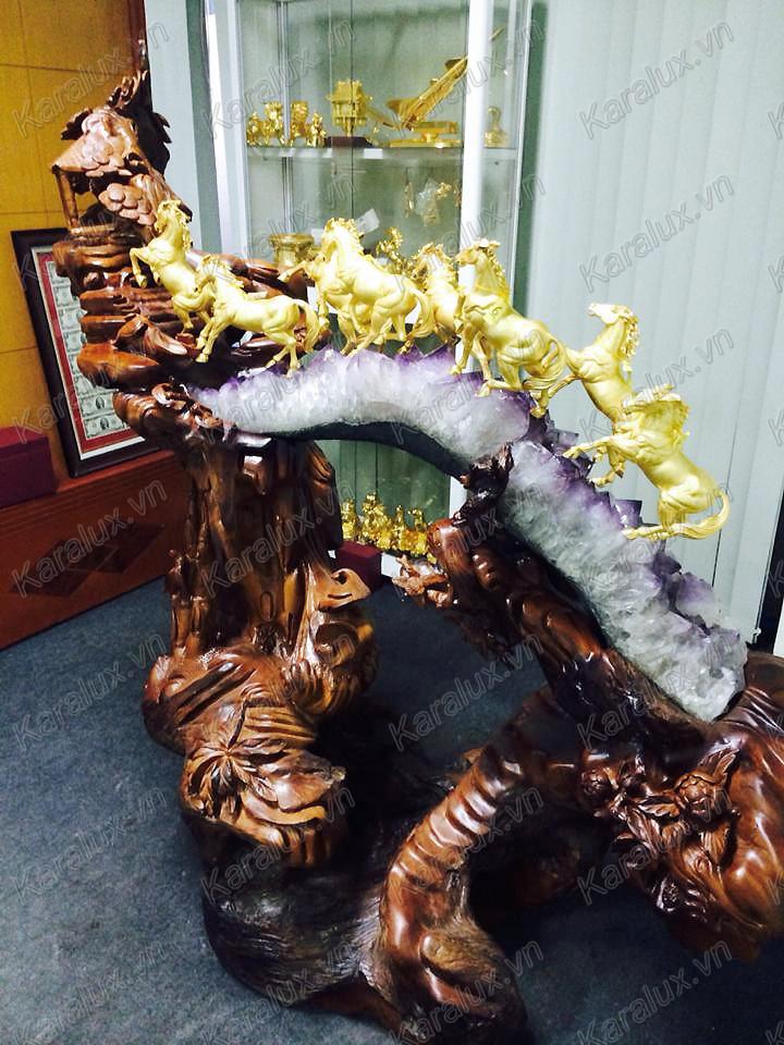 Tượng ngựa mạ vàng (loại nhỏ) - TLV-12CG7-1 8