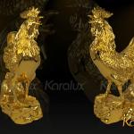 Tượng Gà vàng phong thủy 3