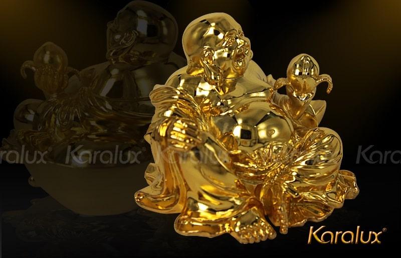 Tượng di lặc ngồi mạ vàng