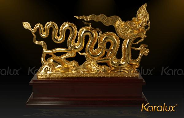 Biểu tượng Rồng thời Lý mạ vàng 1