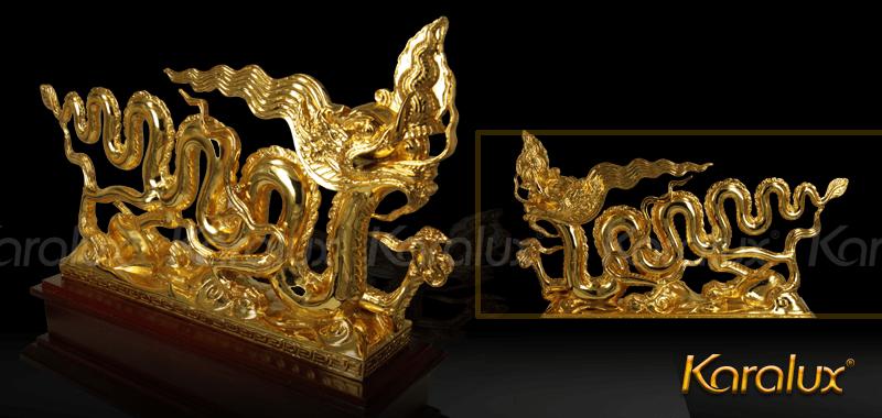 Biểu tượng Rồng thời Lý mạ vàng - TLV-THIN2-C14 6