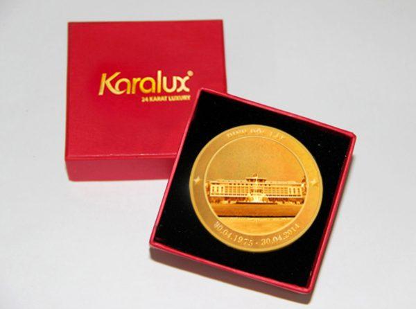 Đồng lộc kim tượng đài Điện Biên Phủ mạ vàng 1