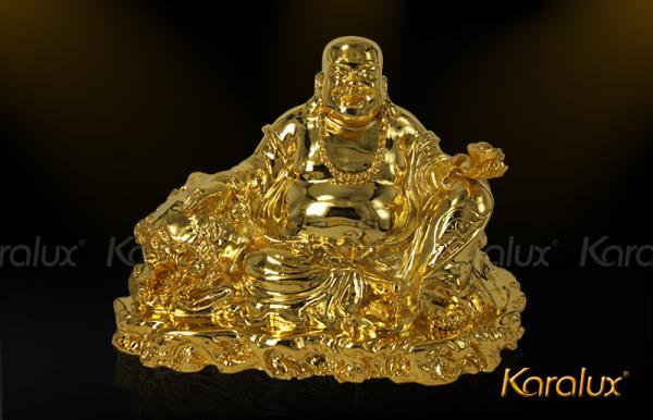Tượng Phật Di Lặc mạ vàng giúp bảo vệ tiền tài cho gia chủ
