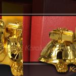 Linh vật Rùa cõng sách mạ vàng độc đáo 6