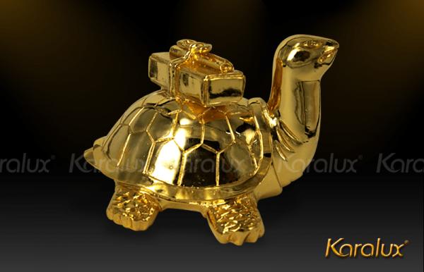 Linh vật Rùa cõng sách mạ vàng độc đáo 1