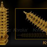 Tháp Văn Xương đúc đồng mạ vàng - MHK-0011-C18 4
